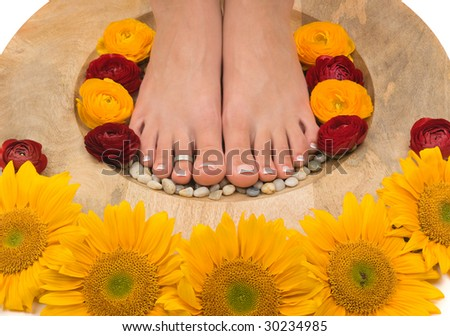 Spa treatment and pedicure - stock photo