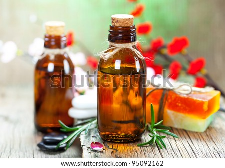 Spa treatment. Aromatherapy.Essential Oil - stock photo