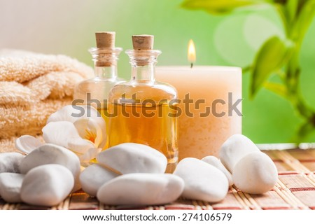 Spa Treatment. Heath spa and flower XXL - stock photo
