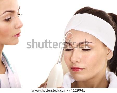 Spa treatment  procedures. Isolated. - stock photo