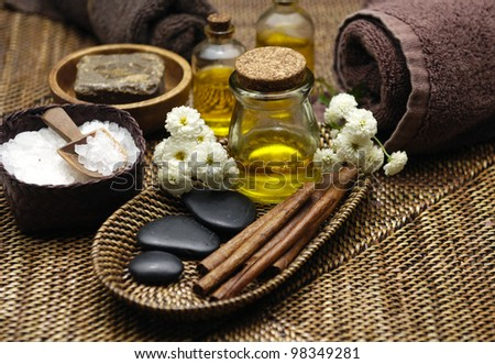 Spa wellness products - stock photo