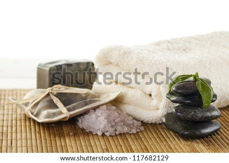 Spa  & wellness setup - stock photo