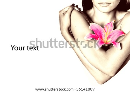Spa with flower - stock photo
