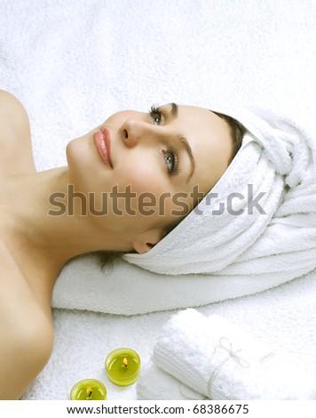 Spa Woman - stock photo