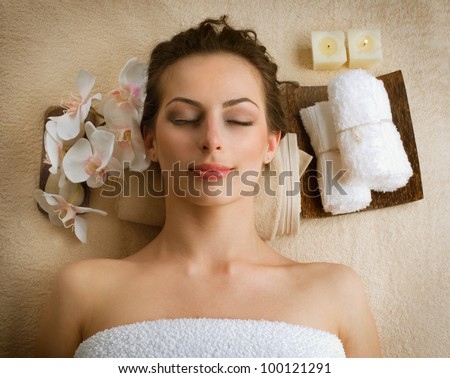 Spa Woman in Beauty Salon - stock photo