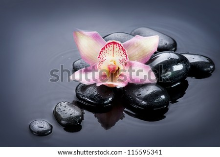 Spa Zen Stones - stock photo