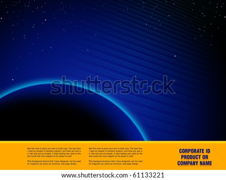 Space Abstract Design artwork,  Design  template ready for web page design, brochures, books, banners, stationary or Press Kits - stock photo