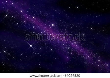 Space and stars - stock photo