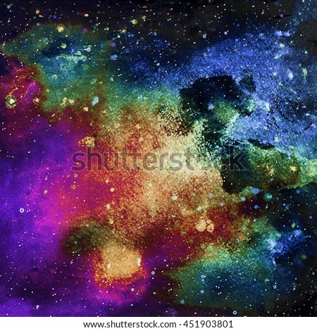 Space background. Stars and galaxies - stock photo