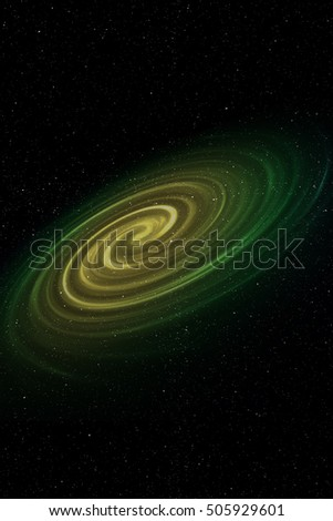 Space Background Wallpaper with Spiral Galaxy