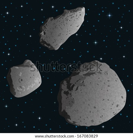 Stock Images similar to ID 91896287 - asteroid on a white ...