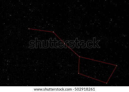 Space Background with the plough or big dipper constellation of Ursa Major