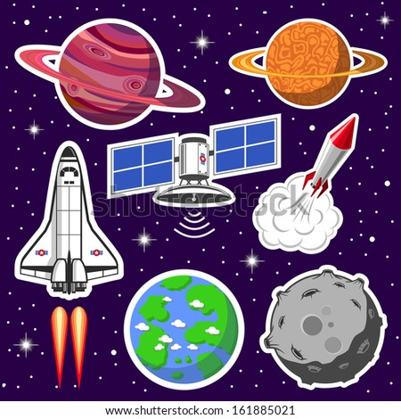 space collection - stock photo