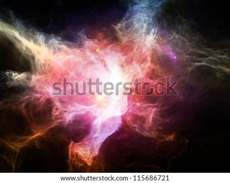 Space Dance Series. Arrangement of nebulous textures, lights and gradients on the subject of astronomy, imagination, fantasy and creativity - stock photo