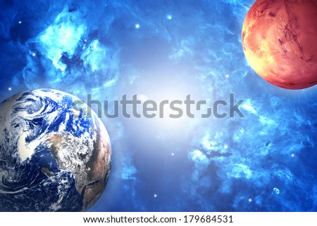 Space. Elements of this image furnished by NASA.