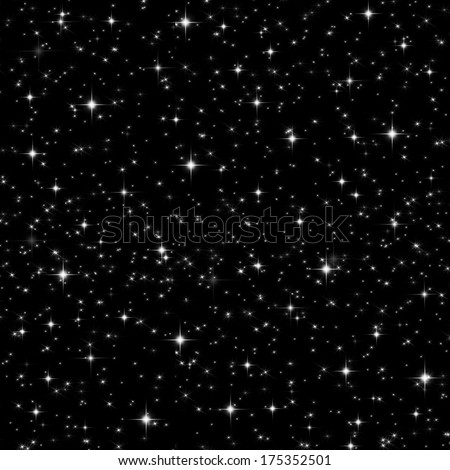 Space full of stars seamless background - stock photo