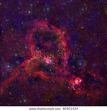 space gydrogen nebulae - stock photo