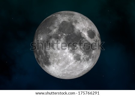 Space landscape: mysterious moon  - stock photo