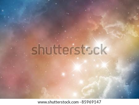 space nebula background - stock photo