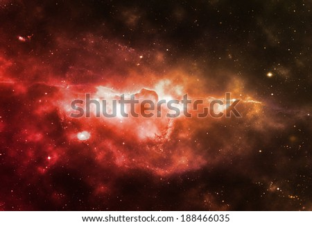 Space nebula or space clouds - Elements of this image furnished by NASA - stock photo