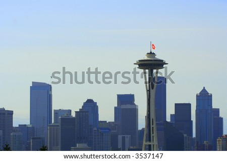 space needle in Seattle skyline