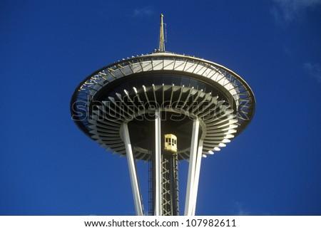Space Needle in Seattle, Washington - stock photo