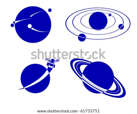 space objects - stock photo