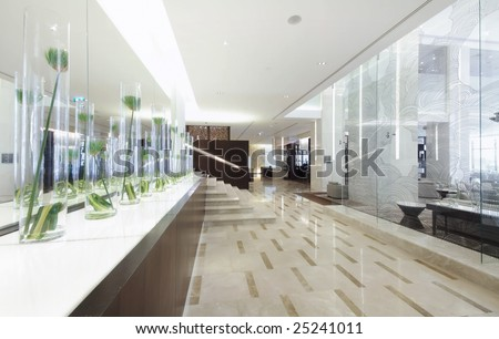 space of hotel lobby