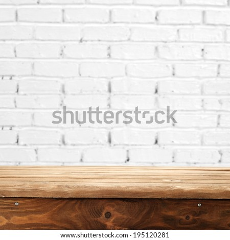 space of wall and table in interior  - stock photo