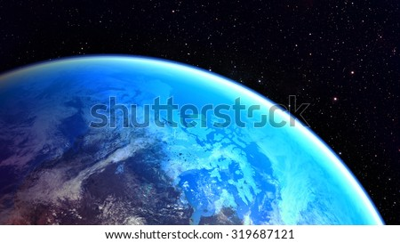 Space planet Earth - Elements of this image furnished by NASA - stock photo