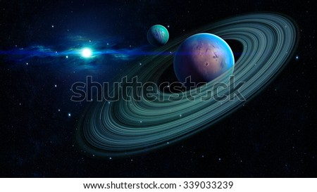 Space planet - Elements of this image furnished by NASA - stock photo