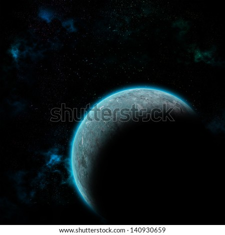 Space planet in galaxy