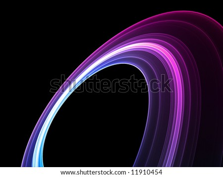 Space ring - stock photo