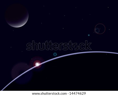 space scene - stock photo