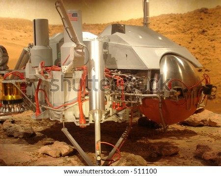 Space Ship Model - stock photo