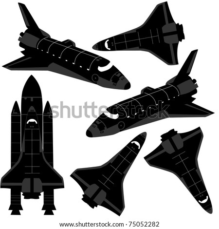Space ship silhouette.