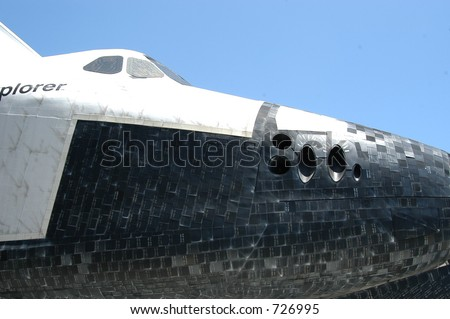 Space Shuttle at Kennedy Space Center - stock photo