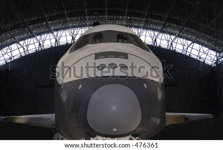 Space Shuttle Front - stock photo