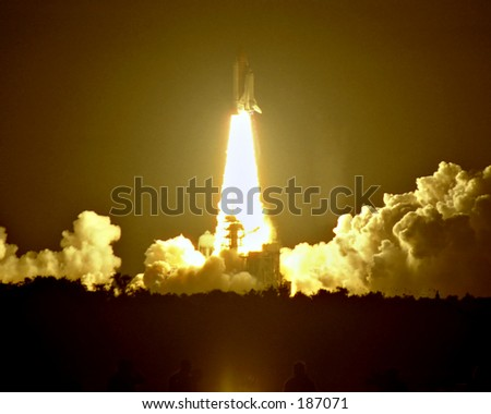 Space Shuttle Launch - stock photo