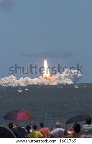 Space shuttle launch STS 121. - stock photo