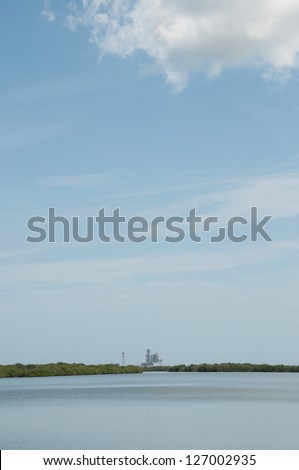 Space Shuttle Lunch Pad, Cave Canaveral, 12/08/2012 - stock photo
