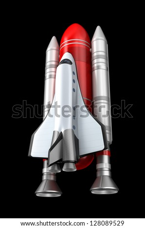 Space shuttle model - stock photo