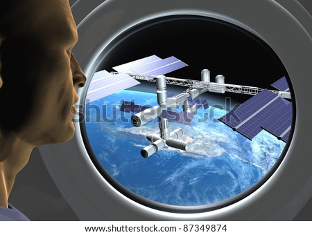 Space station - stock photo