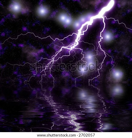 Space Storm - stock photo
