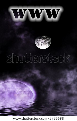 space technology concept - stock photo