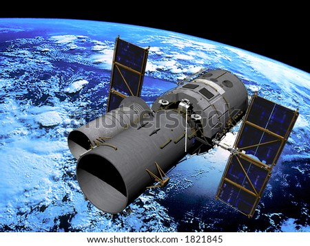 Space Telescope in Orbit - stock photo