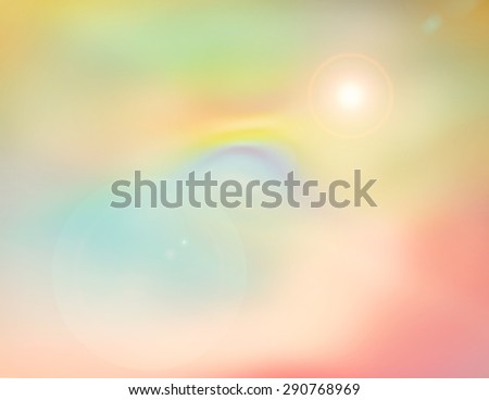 Space Travel Abstract Background with Lens Flare DIgital Artwork created in Photoshop. (No source image was used) - stock photo