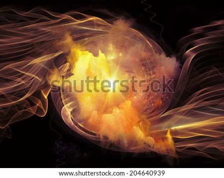 Space Vortex series. Abstract design made of translucent vortex, fractal elements, lights and textures on the subject of science, technology and design - stock photo