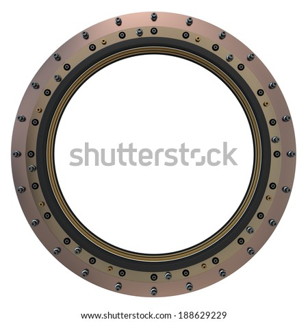 Spacecraft Porthole. 3D Model.