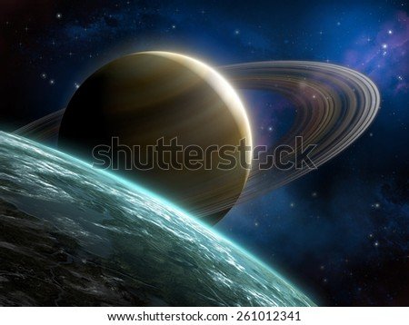 Spacescape 2 - stock photo